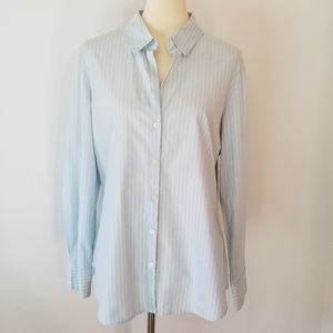Old Navy XL Blue Button Down Blouse